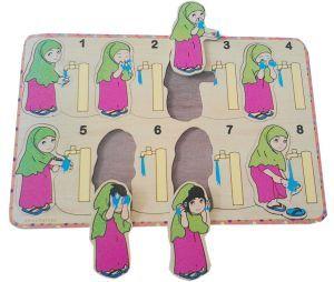 Gambar Kartun Wanita Wudhu Puzzle Gambar Stiker Puzzle Stiker Wudhu Perempuan